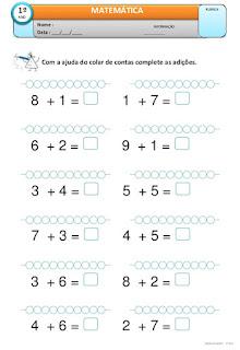 Atividades de numeros para educação infantil para imprimir