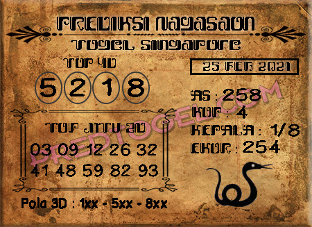Pred Nagasaon SGP45 Kamis 25 Februari 2021