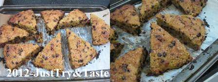 Resep Scone Labu Kuning dan Chocolate Chips