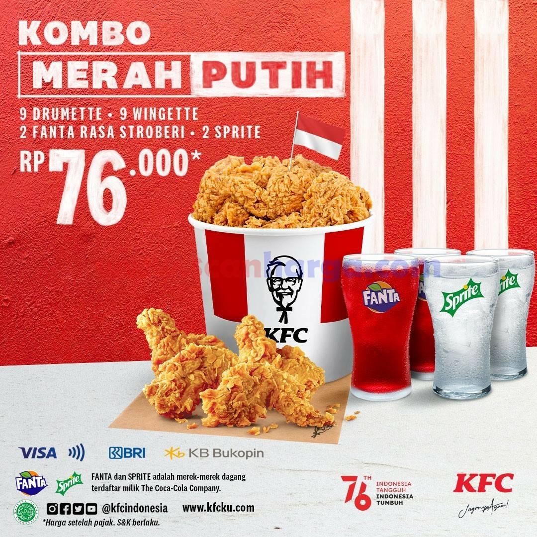 Promo KFC COMBO MERAH PUTIH Periode 16 - 18 Agustus 2021*