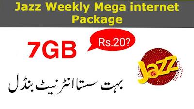 Jazz Weekly Mega internet Package Details