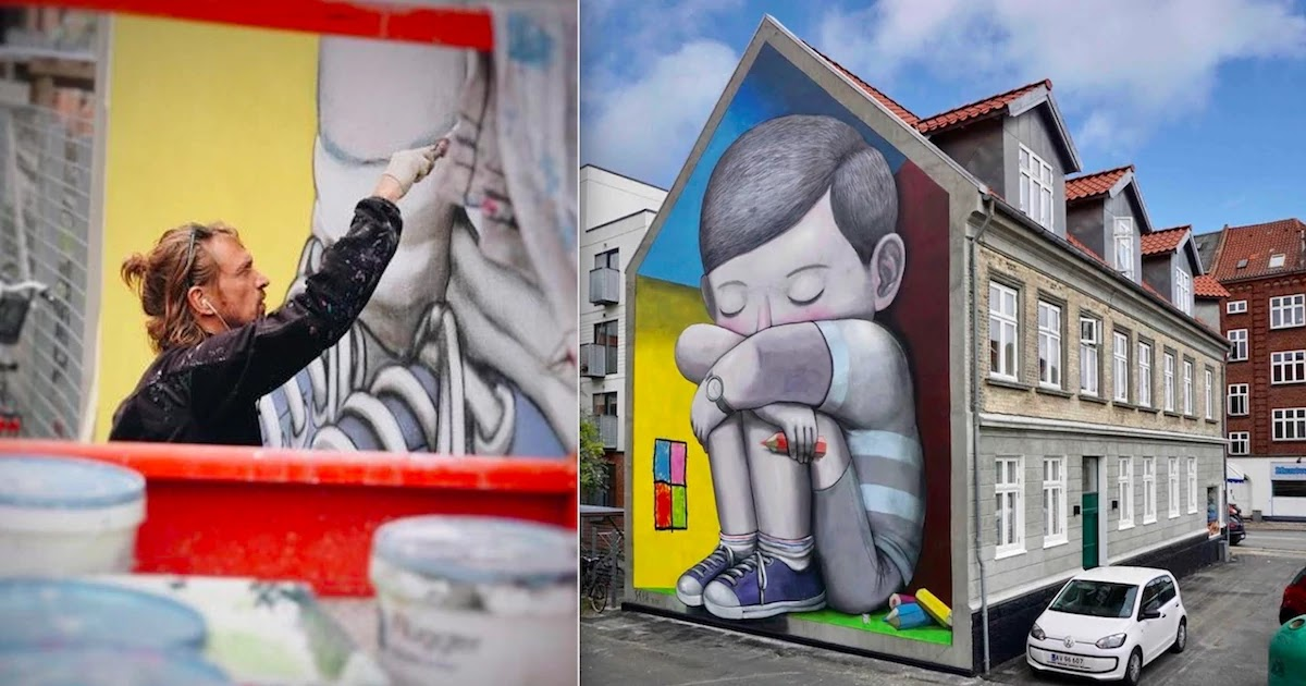 These Beautiful Murals By Julien Malland Show The World Through The Eyes Of A Child