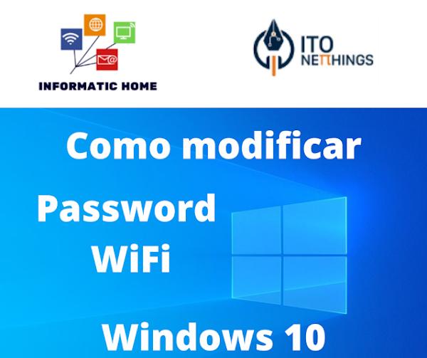 Como mudar a Password do WiFi no Windows 10?
