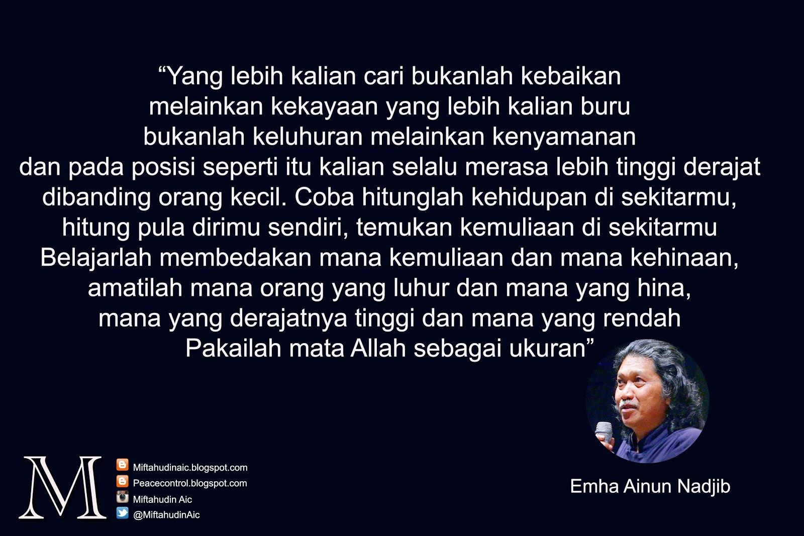 Kata Mutiara Terbaru 24 Kata Mutiara Emha Ainun Najib Photos