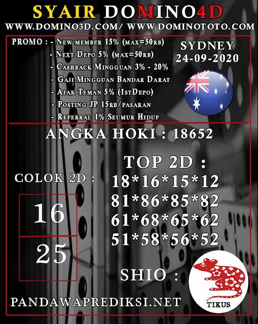 Forum Kode Syair Sydney Hari ini 24 September 2020 - Syair