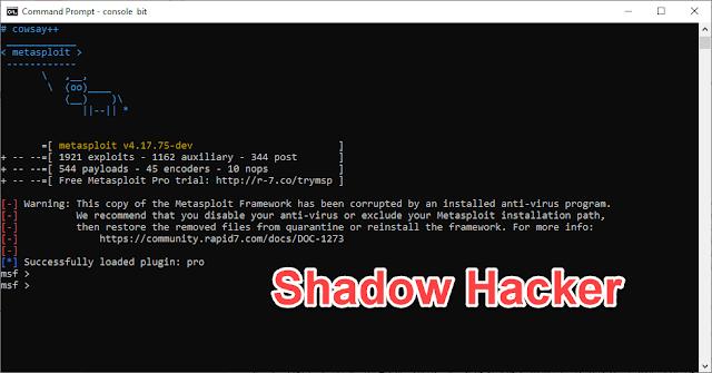 How install MetaSploit in Windows