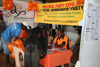 Social Democratic Party during a Political Party Expo in 2018 in Lae, Morobe province