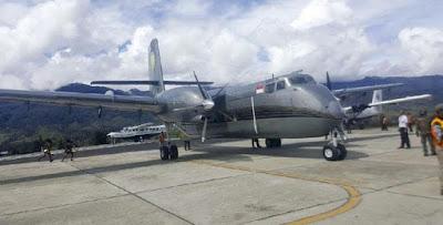 Pesawat Jenis Caribou yang Hilang Kontak, Ternyata Jatuh di Distrik Jila, Kabupaten Mimika