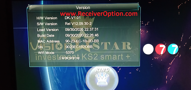 VISION STAR 777 1507G 1G 8M NEW SOFTWARE WITH ECAST & DIRECT BISS KEY ADD OPTION