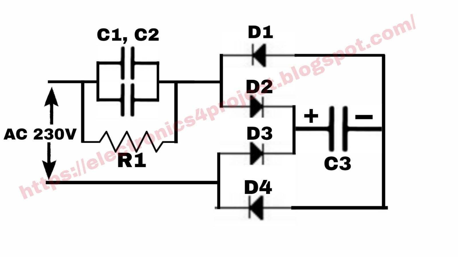 Electronics Project Led Bulb Driver Circuit Diagram