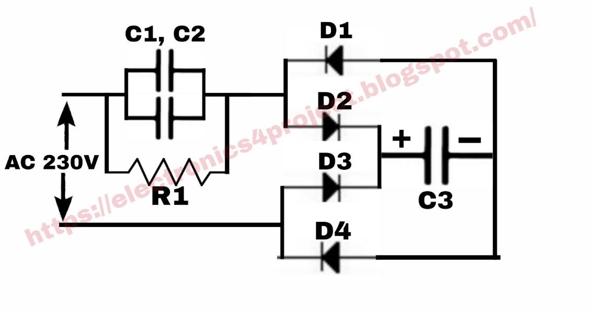 Electronics project: LED bulb driver circuit diagram