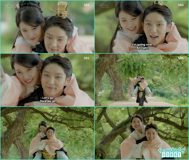 king wang so give hae soo piggy back ride - Moon Lovers Scarlet Heart Ryeo - Episode 20 Finale (Eng Sub)