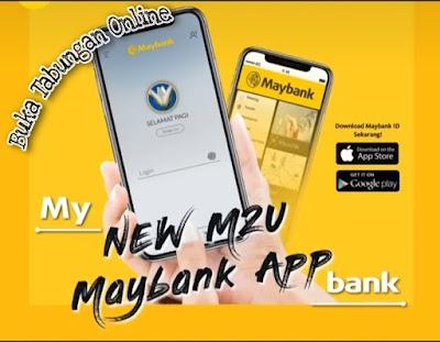 Buka tabungan online maybank
