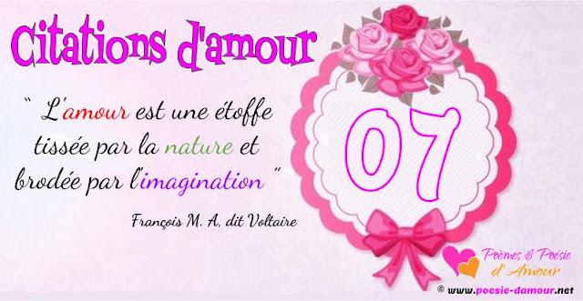 Citation de Voltaire sur l'amour