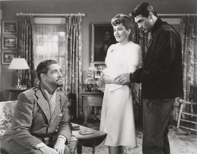 Ronald Colman, Jean Arthur y Cary Grant