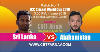 AFG vs SL 7th Match ICC CWC 2019 Prediction Who Win Today
