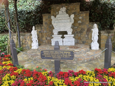 Gandhi World Peace Memorial at Lake Shrine Meditation Gardens in Pacific Palisades, California