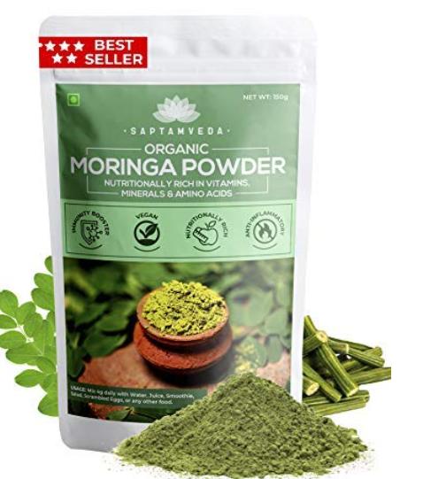 SAPTAMVEDA 100% Organic Moringa Leaf Powder
