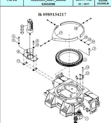Quay toa Dong Yang 15 tấn SS3504-SS3506-SS3506M