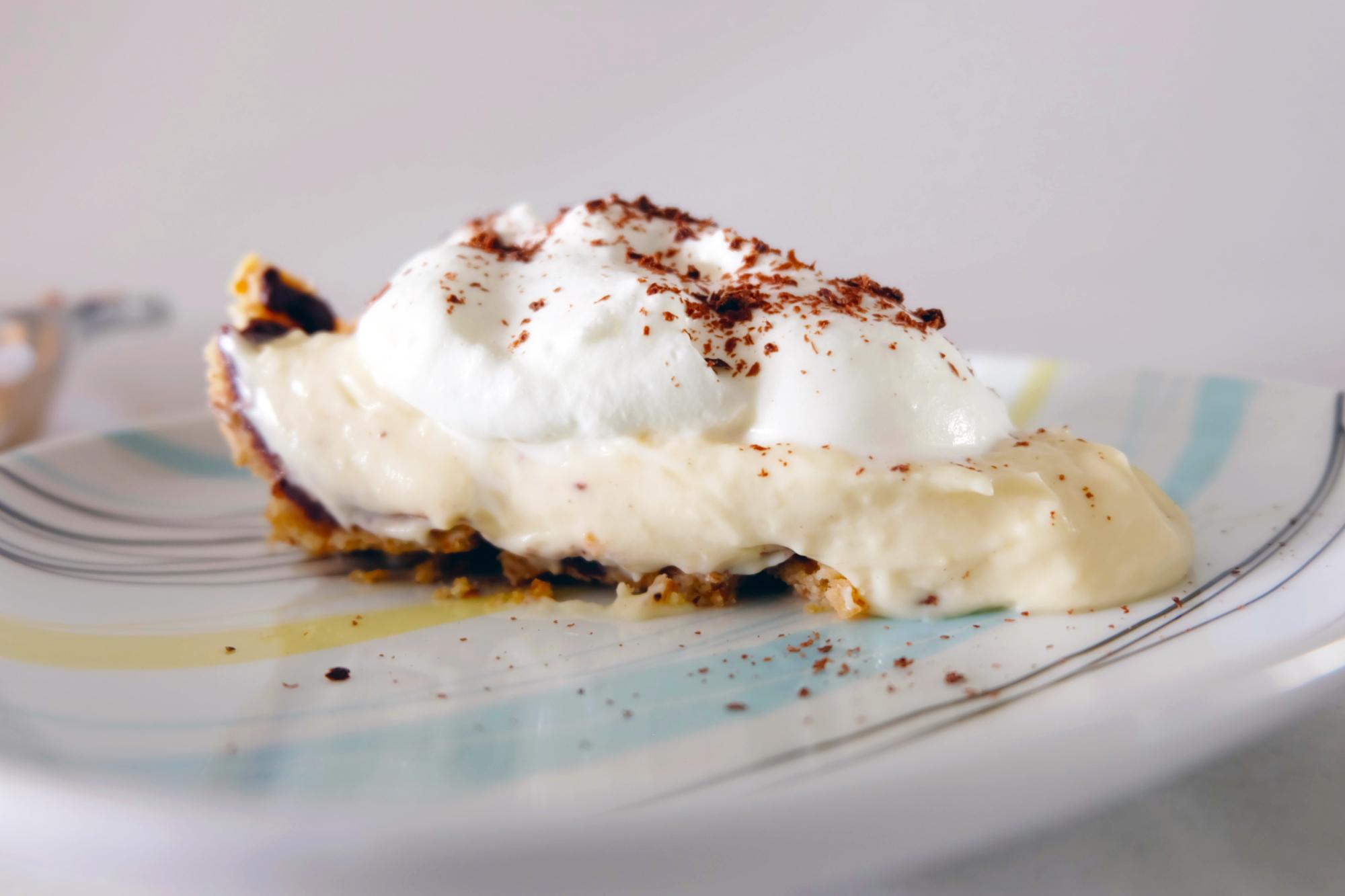 fudge bottom pie slice