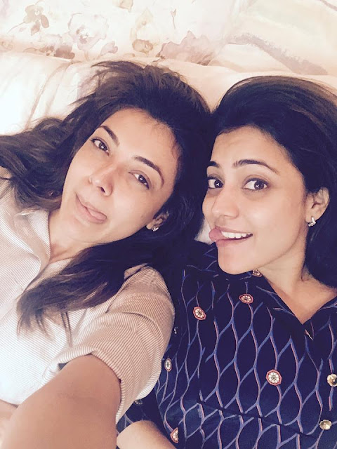 Kajal agarwal Latest pic with her sister