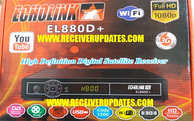 ECHOLINK EL888D+ SIM RECEIVER NEW SOFTWARE 19 JULY VLINE & TEN