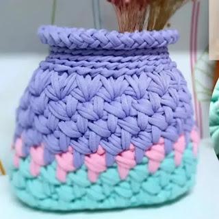 Jarrón a Crochet