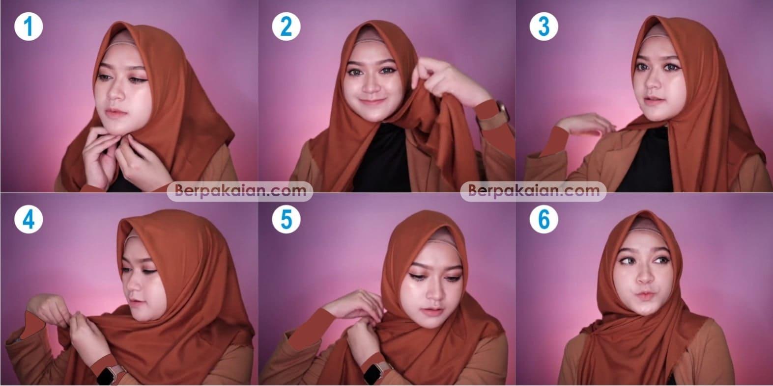 20 Inspirasi Tutorial Hijab Segi Empat Ria Ricis Sarah Halimah