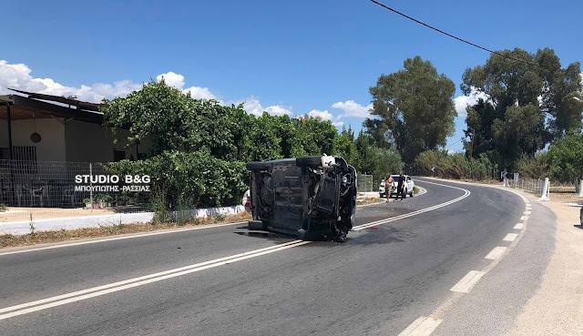 Ανατροπή αυτοκινήτου στο Άργος - Τραυματίας ο οδηγός