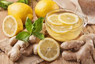 ديتوكس من ماء الزنجبيل والليمون