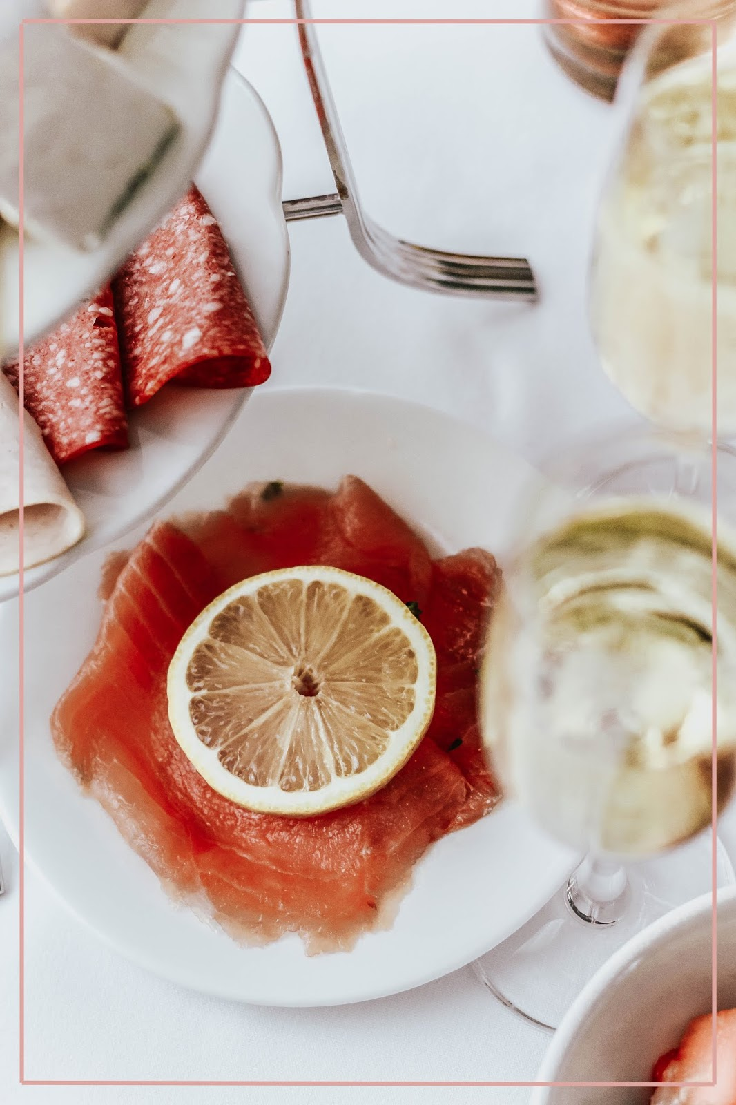 Smoked Salmon With Slice of Lemon Breakfast