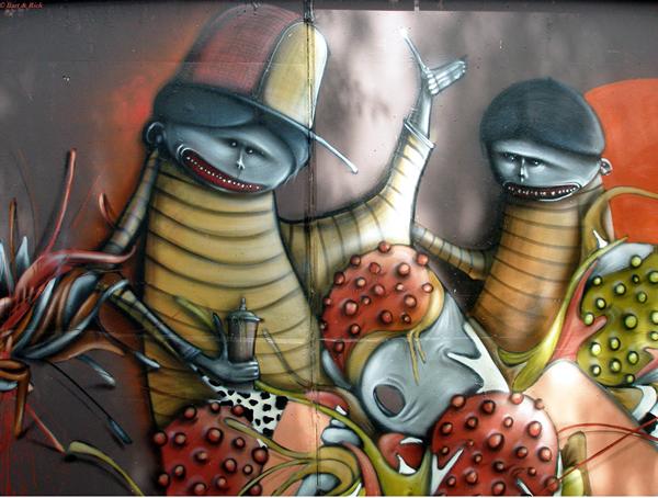Grafiti atau Lukisan Dinding virus dan hama