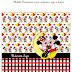 Arte digital para Necessaire para máscara de proteção limpa e Suja Grátis - Tema Mickey e Minnie