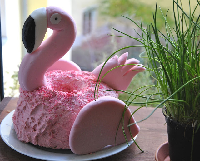 Flamingo Kuchen DIY