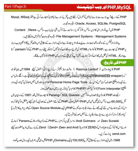 php urdu course tutorial