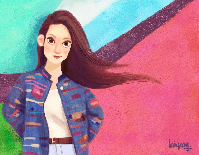 Valentina Maile Prada Illustration, girl woman colourful