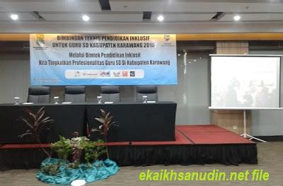 Bimbingan Teknis Pendidikan Inklusif Bagi Guru SD di Kabupaten Karawang Tahun 2018