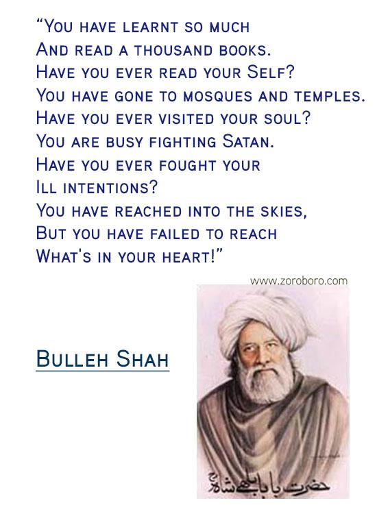 Bulleh Shah Quotes. Bulleh Shah Shayari. Bulleh Shah Sufi Poet. Bulleh Shah Poems / Poems. Bulleh Shah Dohe / Philosophy