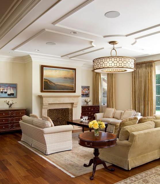 Living room pop gypsum false ceiling design