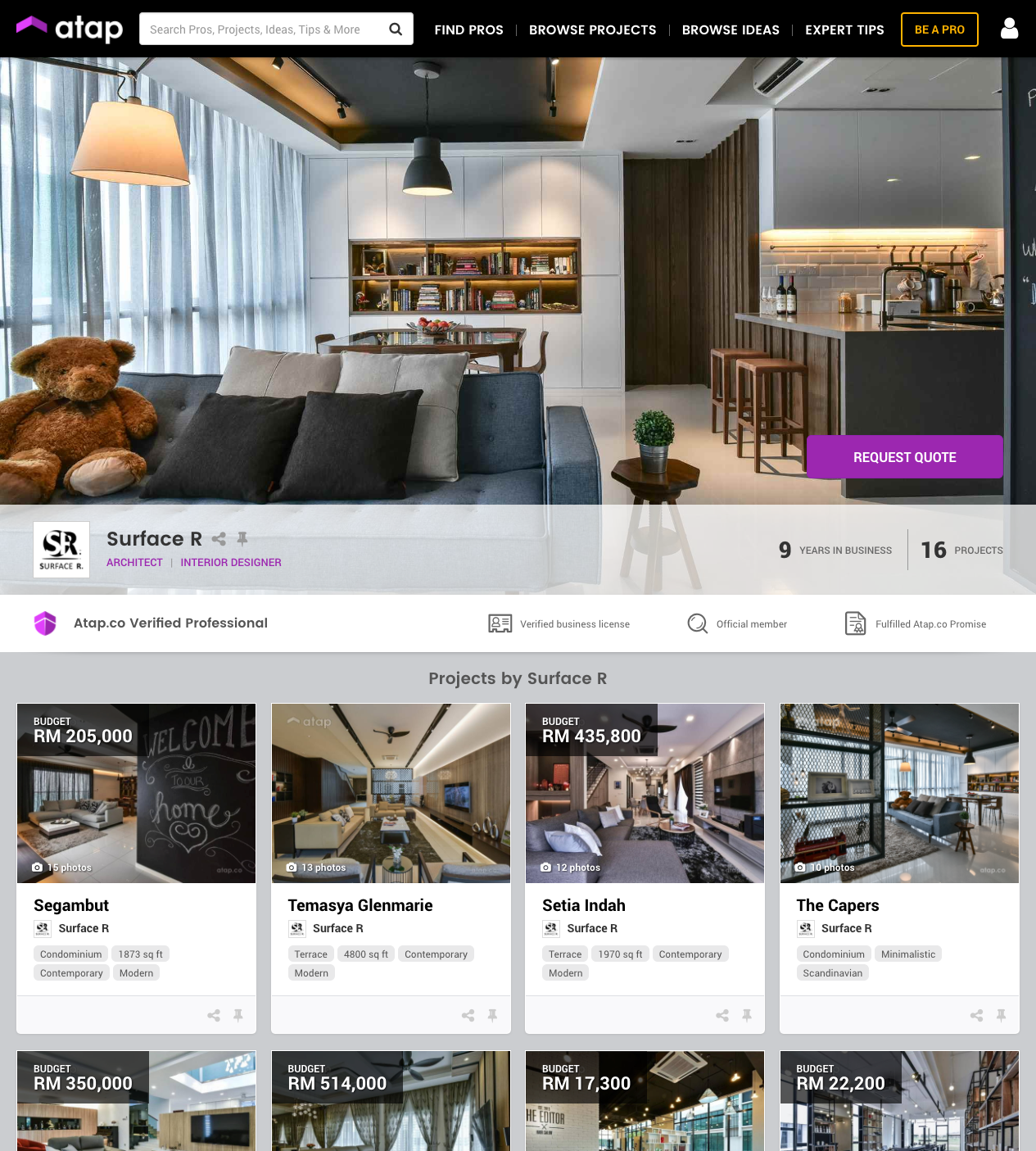 Introducing Atap.co A Trusted Marketplace That Connects Malaysian Property  Owners Like Us With Reliable, Professional Local Interior Designers To Help  ...