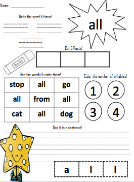 Printables Orton Gillingham Worksheets a first grade teacher orton gillingham red word worksheets fingers crossed i can accomplish it these will be great activity for students to complete after we learn the word