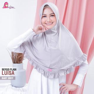 MIulan Hijab - Plain Luisa Bergo Baby Grey