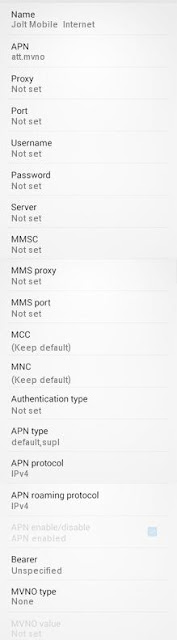 Jolt Mobile APN Settings for Android