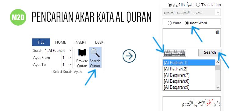 Pencarian akar kata bahasa Arab dalam Al Quran