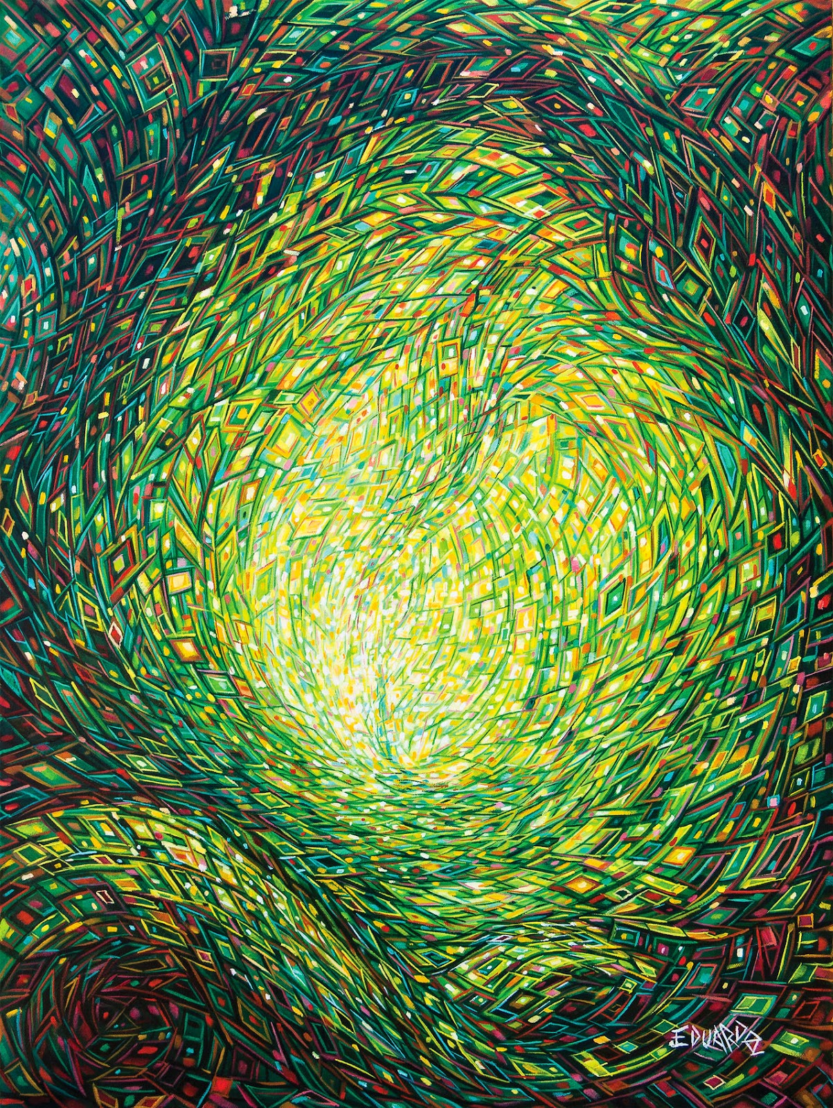 07-Into-the-Unknown-Eduardo-R-Calzado-Paintings-in-Swirls-of-Colour-www-designstack-co
