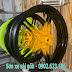Sơn mâm xe máy Exciter phối màu đen vàng cực đẹp