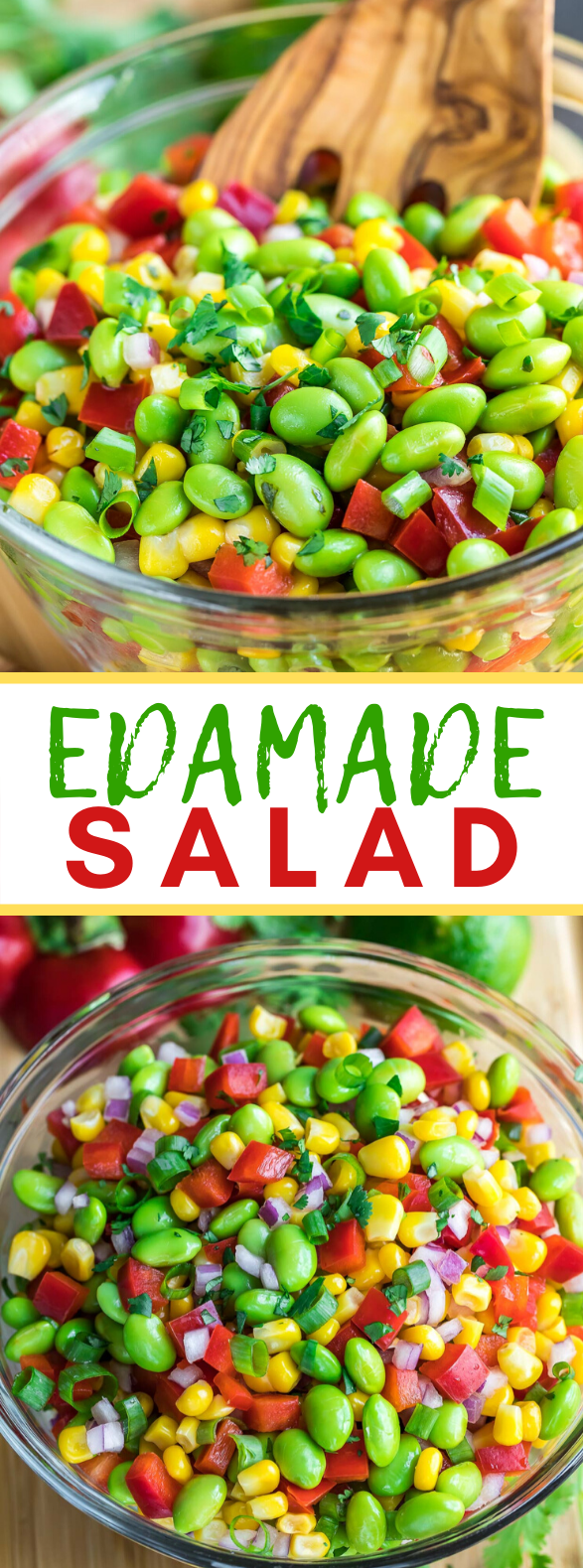 EDAMAME SALAD WITH CILANTRO LIME DRESSING #vegetarian #healthy