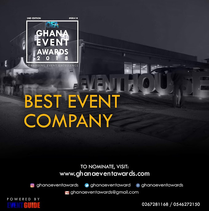 Ghana Event Awards 2018 opens nominations