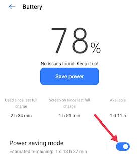 Power Saving Mode ON Kaise Kare