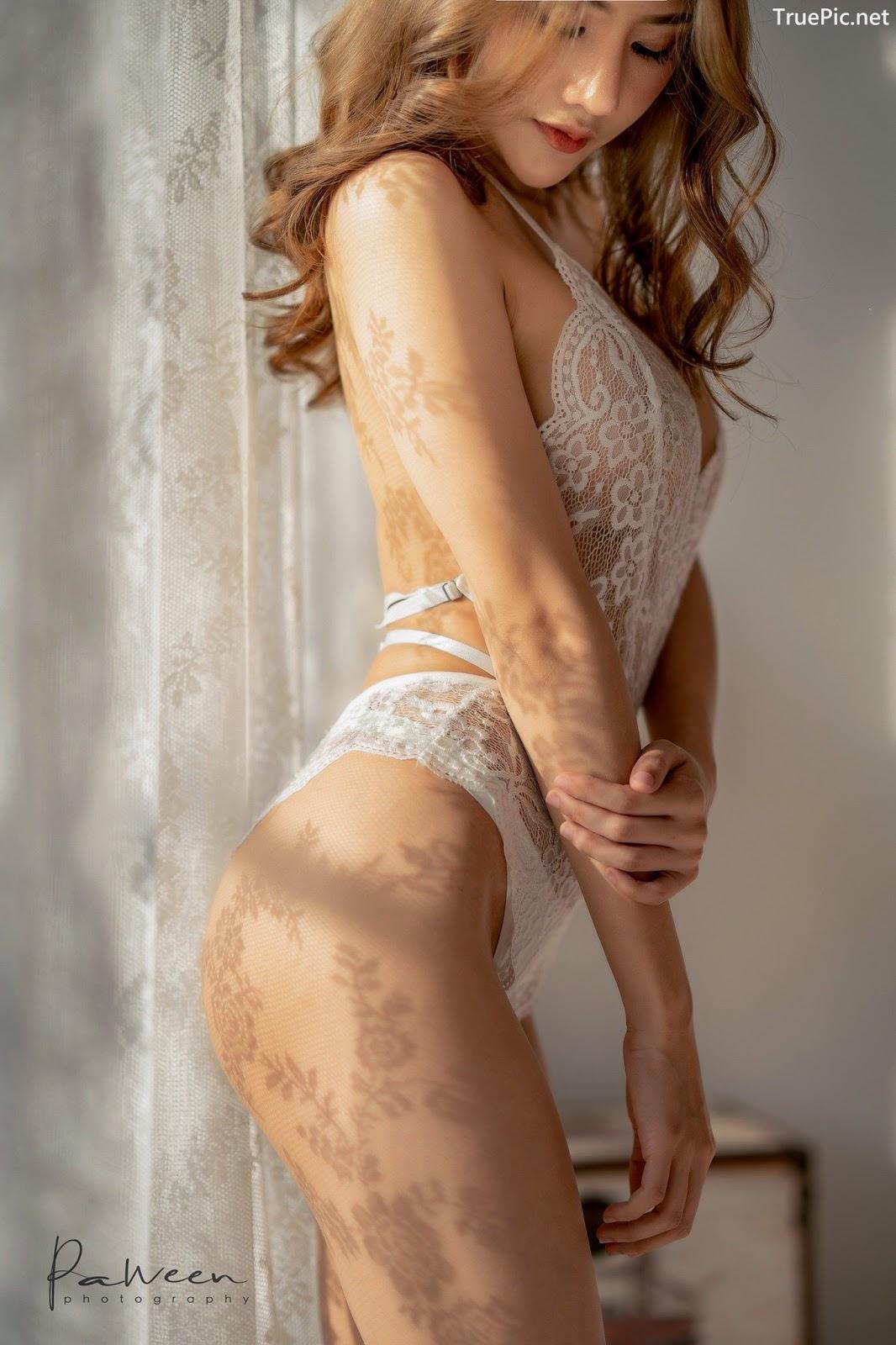 Image Thailand Model - Atittaya Chaiyasing - White Lace Lingerie - TruePic.net - Picture-13